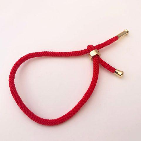 Pulsera bañada en oro 18k Cordón Rojo LBO50817