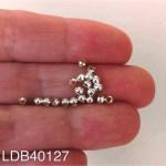 Mostacilla bañada en plata 1gr