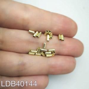 Mostacilla tubo lijado bañado en oro de 2x4 1gr 20un aprox LDB40144