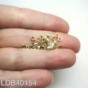 Mostacilla tubo lijado bañado en oro de 2.5x2mm 1gr 30un aprox LDB40154