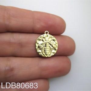 Dije bañado en oro de 16mm Abeja LDB80683