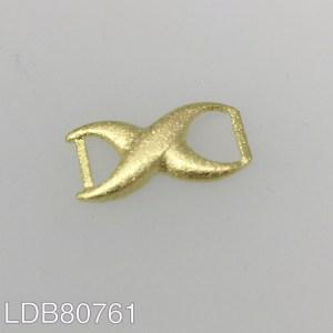 Dije bañado en oro de 15x8mm conector LDB80761