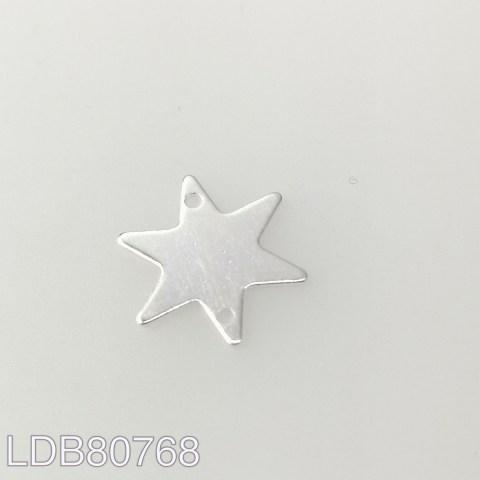 Dije bañado en plata de 15mm estrella LDB80768
