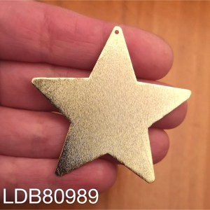 Dije bañado en oro de 50mm Estrella 1 dije LDB80989