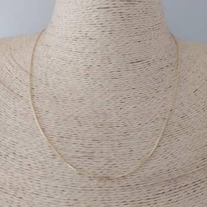 Cadena lista bañado en oro de 40,42,45 y 50cm Veneciana con alargue de 3cm LDC10022
