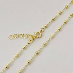 Cadena lista bañada en oro 22k Alargue 3cm Cadena Bolitas LDC10062