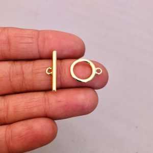Broche bañado en oro 18k de 12mm Circulo Palito LDC20243