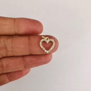 Dije bañado en oro 18k de 11mm Perfil Corazón Circones LDB82259