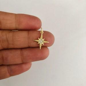 Dije bañado en oro 18k de 15mm Estrella Fugaz Circones LDB82271