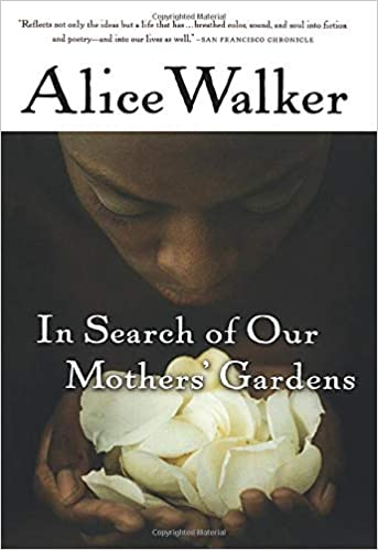 Alice Walker Book (In Search of Our Mothers' Garden) Book Cover