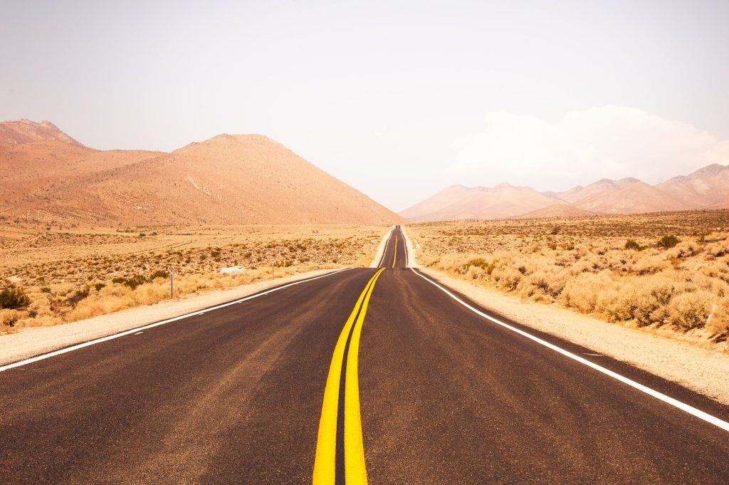image of a road leading into the distance