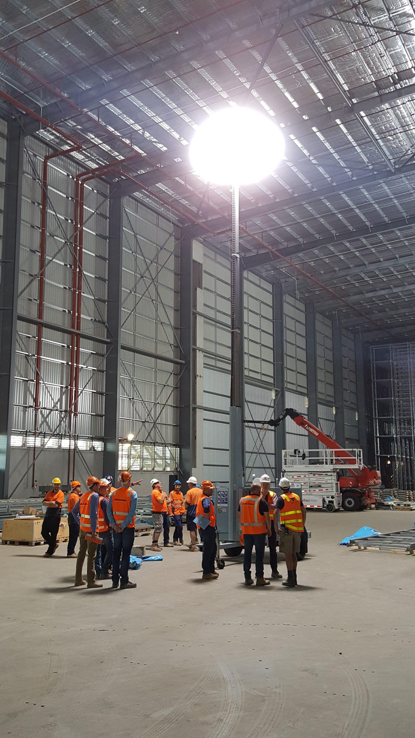 warehouse lights led hmi lunar