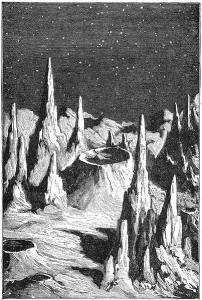 Early artist conception of the lunar surface