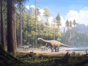 Why the dinosaurs went extinct: the close approach of the moon - Rise and fall of the dinosaur