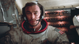Gene Cernan - Aboard Apollo 17 LM (Photo)