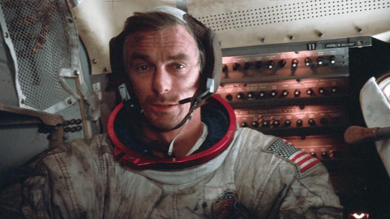 Gene Cernan - Aboard Apollo 17 LM (Photo)