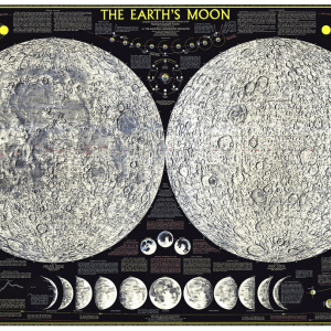 National Geographic Earth's Moon Map (Image)