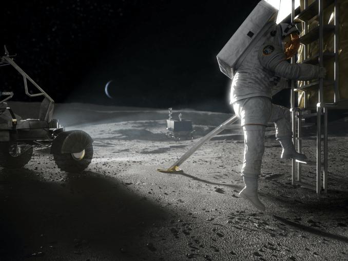 Artemis Astronaut On The Moon (NASA Image)