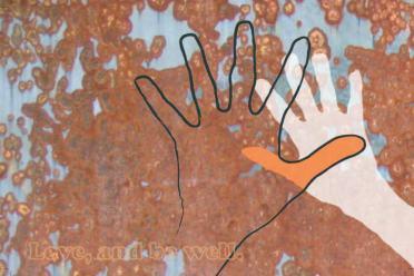Aditi Raychoudhury. Love and Be Well. 2008. Mixed Media.