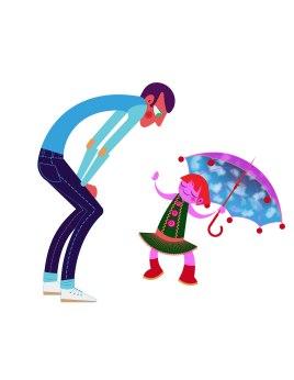 Aditi Raychoudhury. Smarty Panta Girl with Father. 2013. Adobe Illustrator.