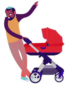 Aditi Raychoudhury. Close-up of Dad. 2013. Adobe Illustrator.