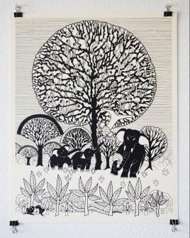 Aditi Raychoudhury. Tree of Life. 2014. Limited Edition Screenprint.