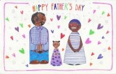 Aditi Raychoudhury. Happy Father's Day. 2016. Pencil and Markers.