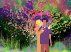 Aditi Raychoudhury. प्यार हुआ, इक़रार हुआ है / Pyaar Hua, Iqraar Hua Hai (Love arises, a promise is made). June12, 2016. Adobe Illustrator