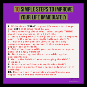10 simple ways to improve your life