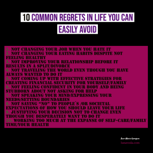 10 Common Regrets in Life