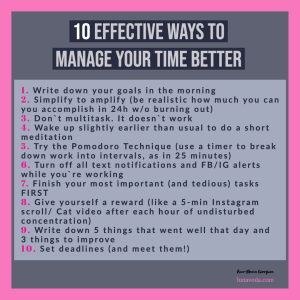 10-ways-to-manage-your-time-better