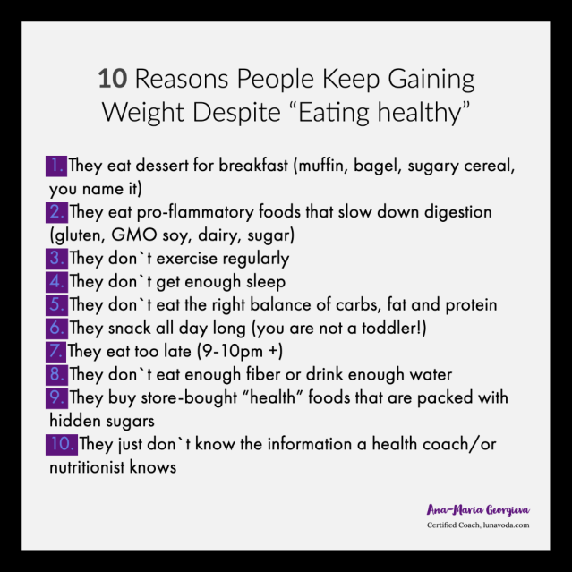 10 reasons people gain weight