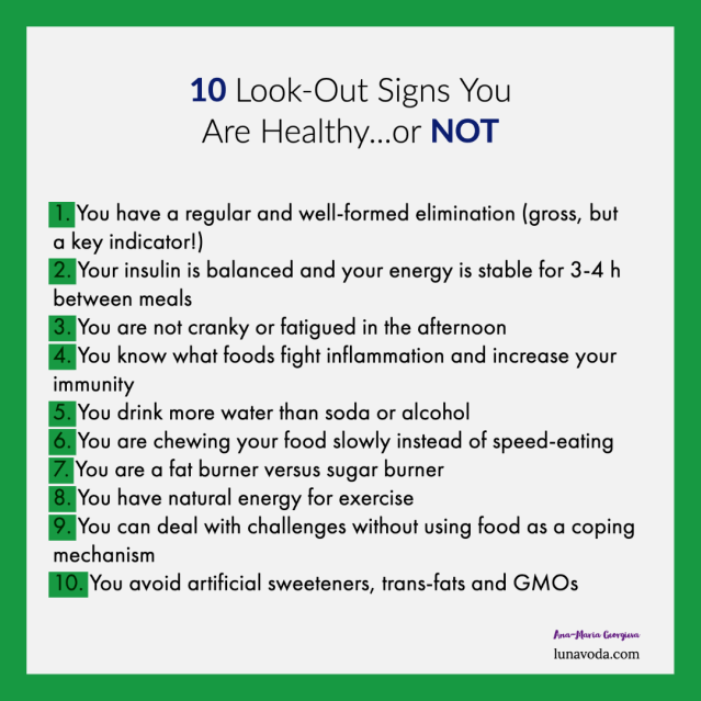 10 signs you are healthy or not