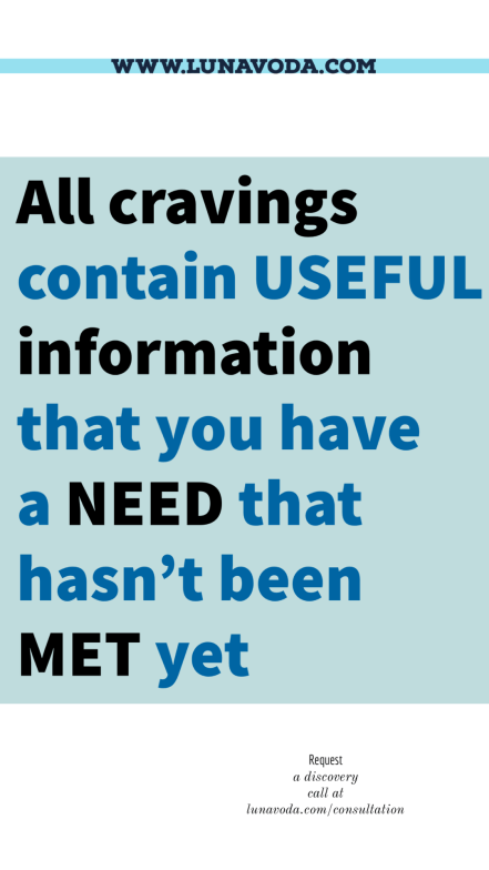All cravings contain useful information