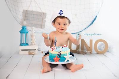 Smash Cake. sesión de fotografias para el cumpleaños de tu bebé en Madrid