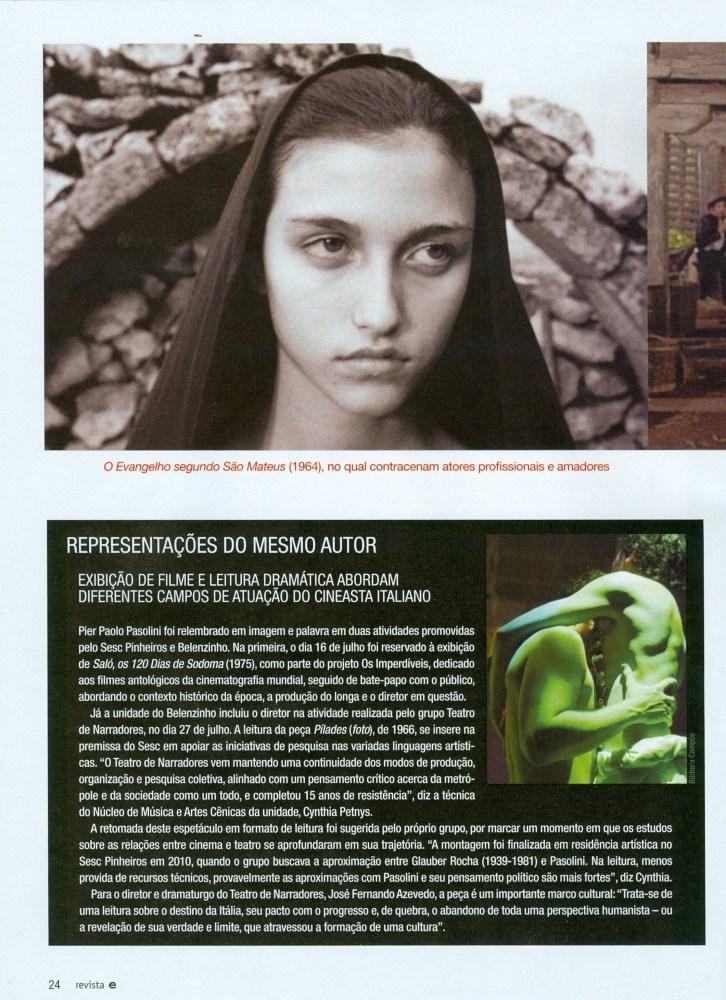 INFLUÊNCIAS DE PIER PAOLO PASOLINI (4/6)