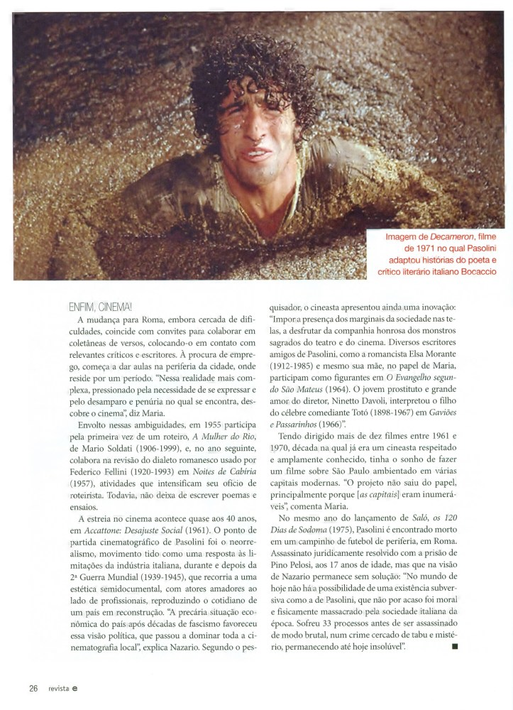 INFLUÊNCIAS DE PIER PAOLO PASOLINI (6/6)