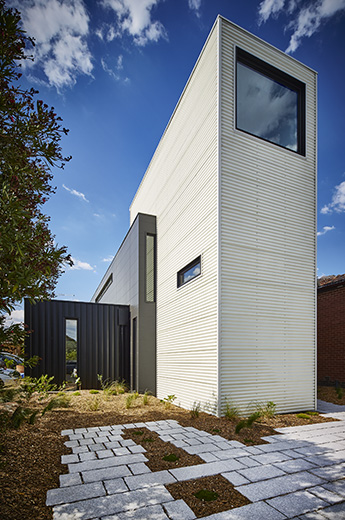Modular Tower House's Lofty Design Makes A Statement In Sleepy Suburb