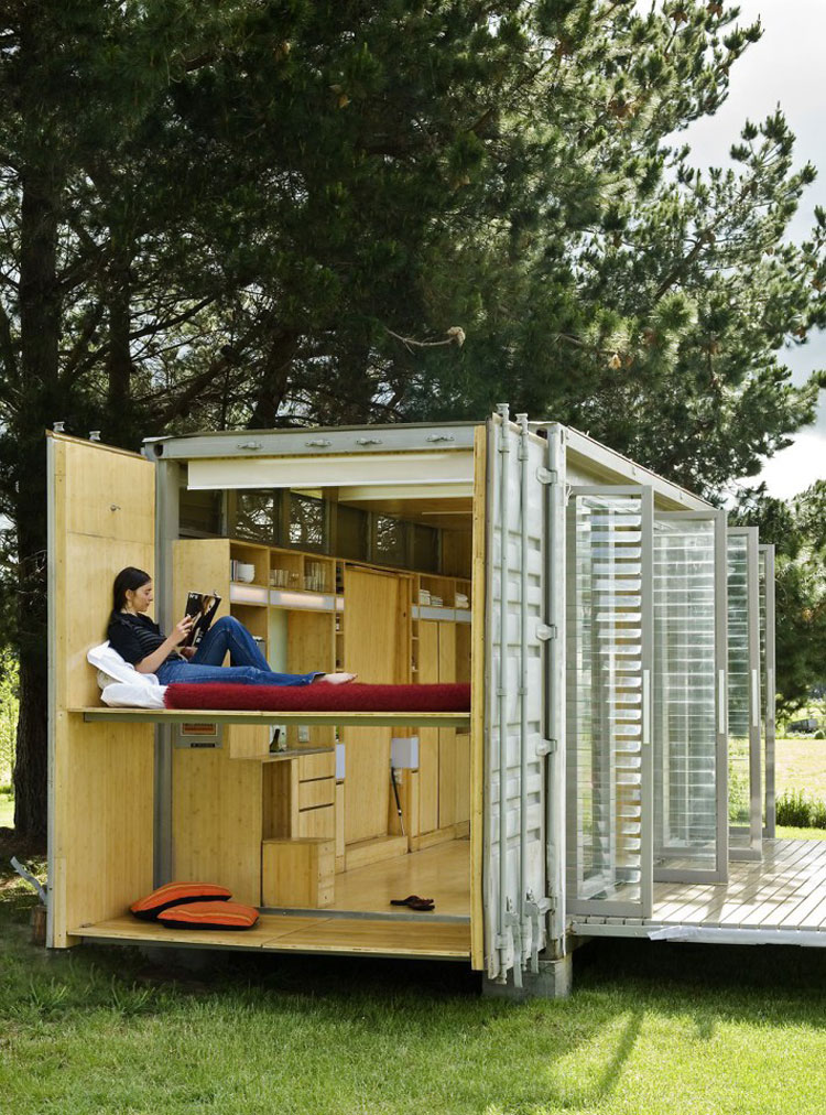 PortaBach A Portable Teeny Tiny Shipping Container Home