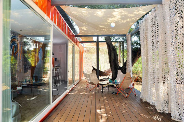 Rusty Shipping Container Transformed Into A Glamorous