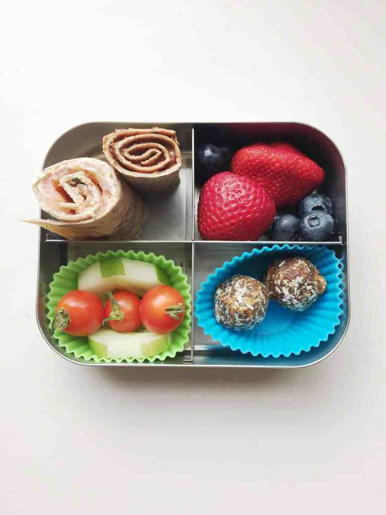 Energy Balls packed in lunchbox
