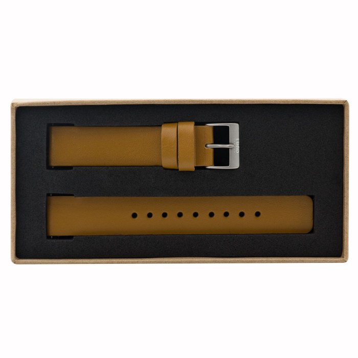 Tan Leather Strap with Silver Clasp - 9081