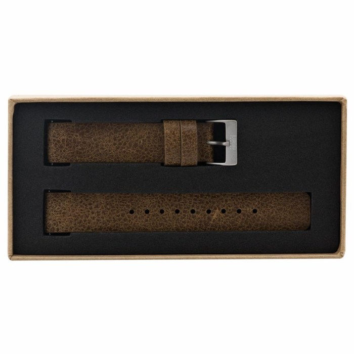 Vintage Brown Leather Strap with Silver Clasp - 9083