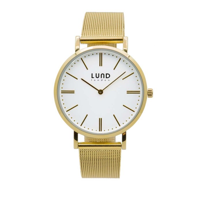 Gold Metal Mesh Watch - 39 mm