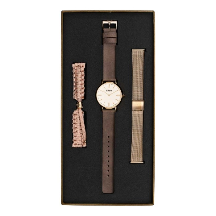 Set No 3 - 39mm Nude Tonal Watch Set