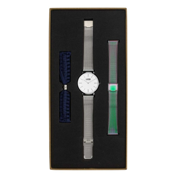 Set No 1 - 39mm Silver Tonal Watch Set