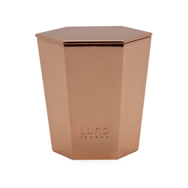 Lund Luxe Lidded Candle - Rose Gold - 5269