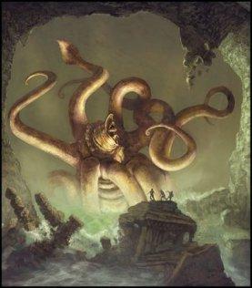 Illustration Dark Fantasy Tentacules