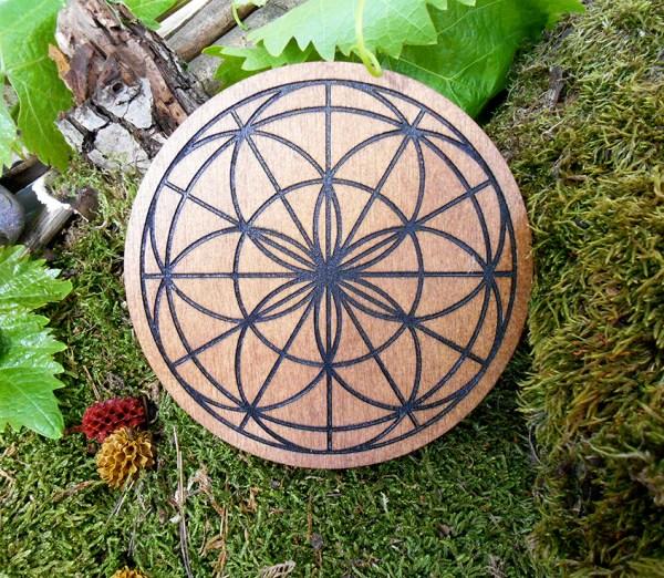 fleur de vie zen bois