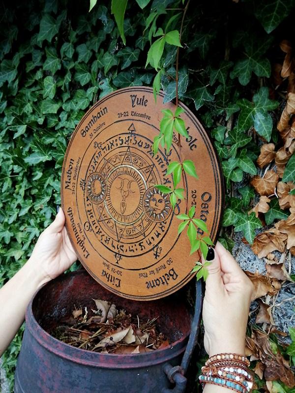 Roue la wicca bois